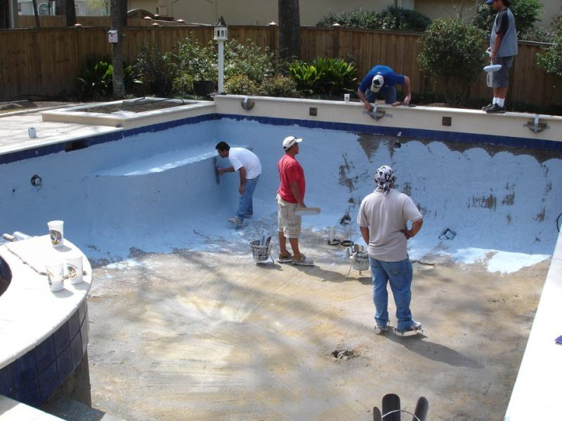 Waterproofing For Pools : My business turn key projects